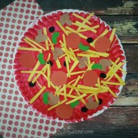 Paper Plate Pizza Craft Idea