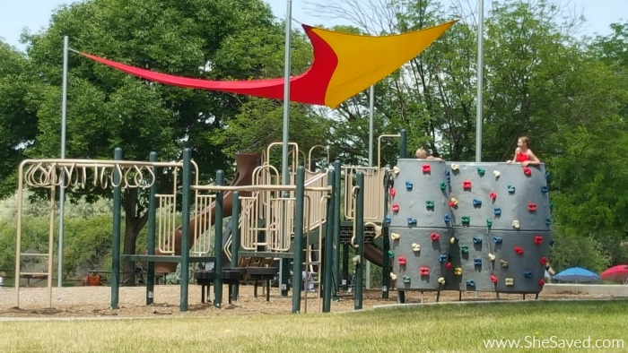 There are many activities for the whole family at Eagle Island State Park including a huge jungle gym that the kids will love!