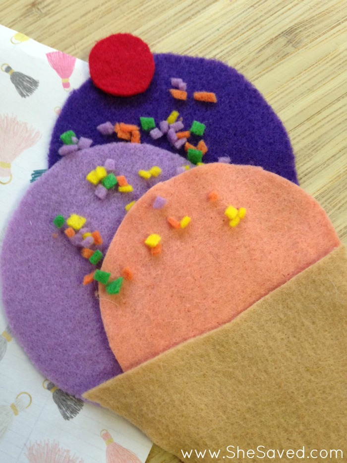 Felt Ice Cream Cone Craft