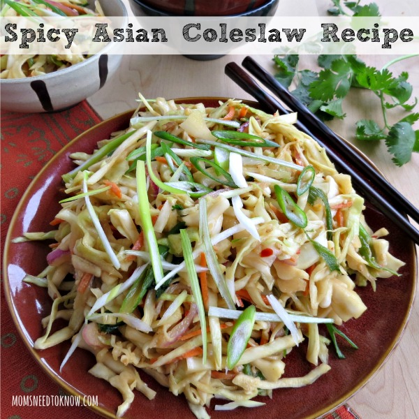 Spicy Asian Coleslaw Recipe from Moms Need to Know