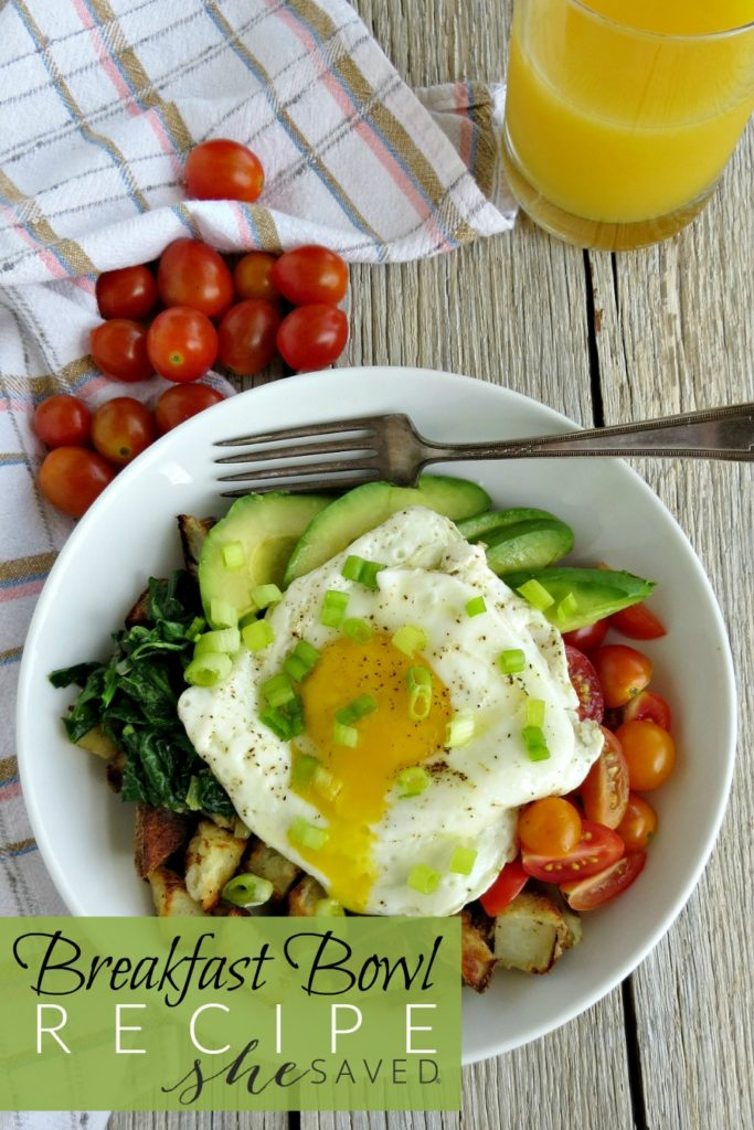 Looking for healthy breakfast options? This Avocado, Egg, and Potato Breakfast Bowl Recipe is an easy and delicious choice for moms on the go!