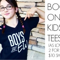 Kid's Graphic Tees: 2 for 1 Deal on Kid's T-shirts! (means shirts for as low as 2 for $10!)