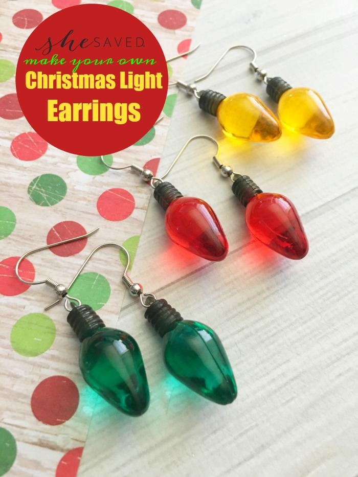 Here's a fun and festive project: Christmas Light Earrings! Easy and also a fun gift idea!