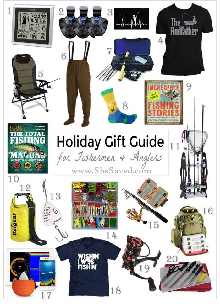 Here's a fun round up of gift ideas for the fisherman on your list!