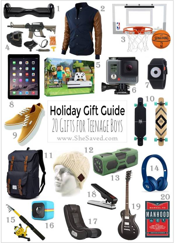 HOLIDAY GIFT GUIDE Gifts for Teen Boys SheSaved