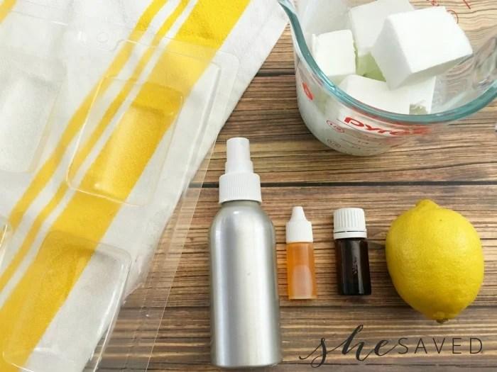 Ingredients for Lemon Soap