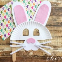 Preschool Activity: Easter Bunny Paper Plate Mask Craft