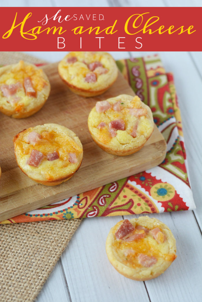 EASY and so yummy, this Ham and Cheese Bites recipe is perfect for your family breakfast!