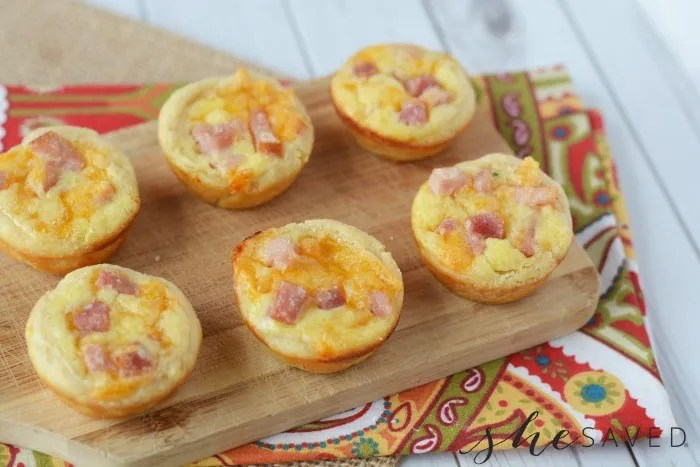 Ham and Cheese Cups