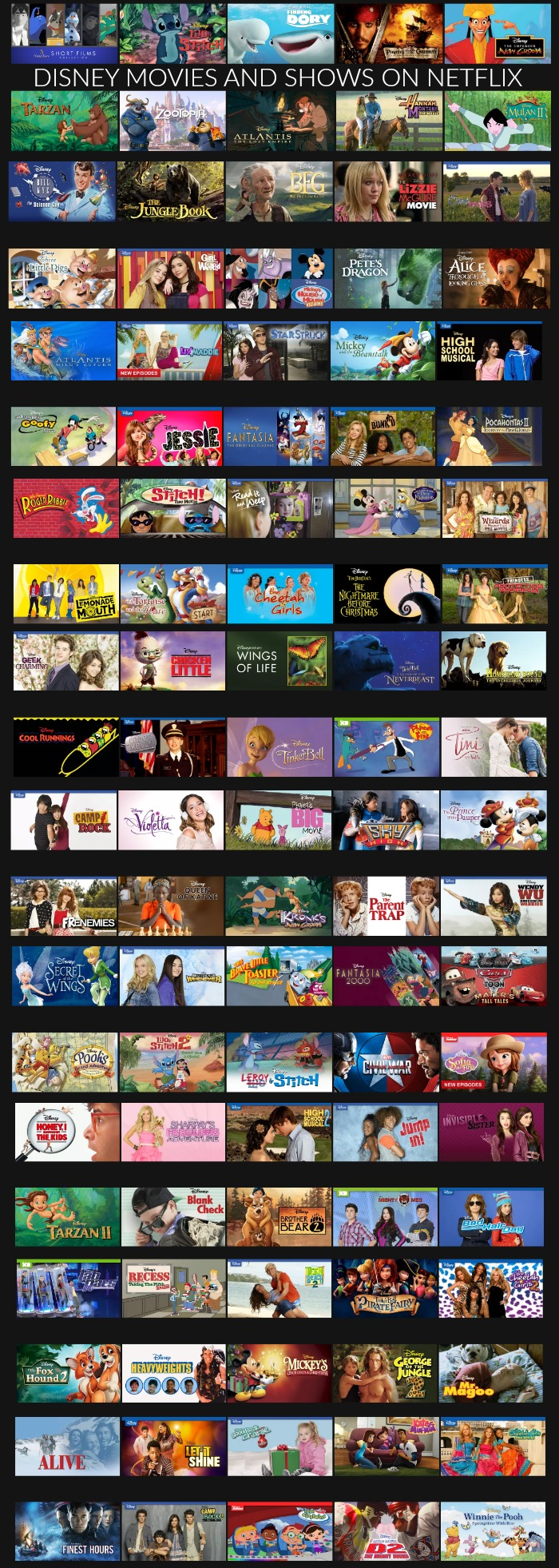 Don't get bored this summer! There are SO many Disney Movies on Netflix!!