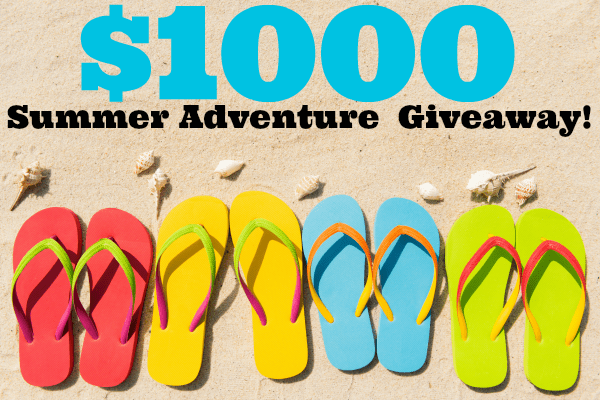 Enter the Summer Adventure $1000 Giveaway!