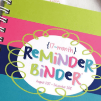Deep Discount! Reminder Binder Up to 60% Off!