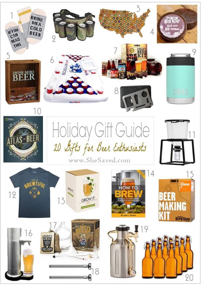 Here are some great gifts for beer drinkers!