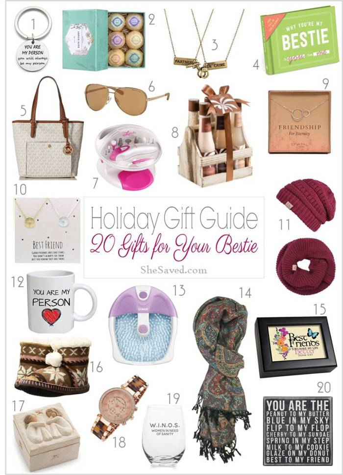 She's your best friend and here are my top picks for gifts for your bestie!