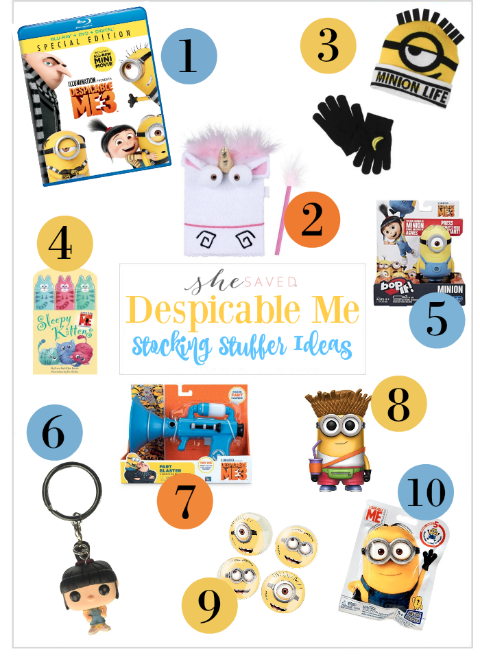 For the Despicable Me fans, Despicable Me Stocking Stuffers!