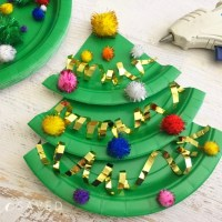 Easy Paper Plate Christmas Tree Craft