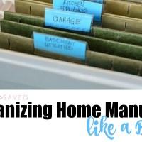 Organizing Home Manuals Like a Boss!