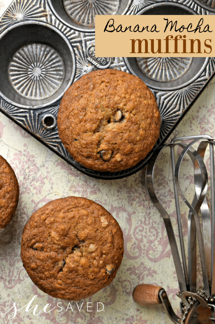Perfect for breakfast on the go, this Banana Mocha Muffin recipe is a big win and it freezes beautifully!