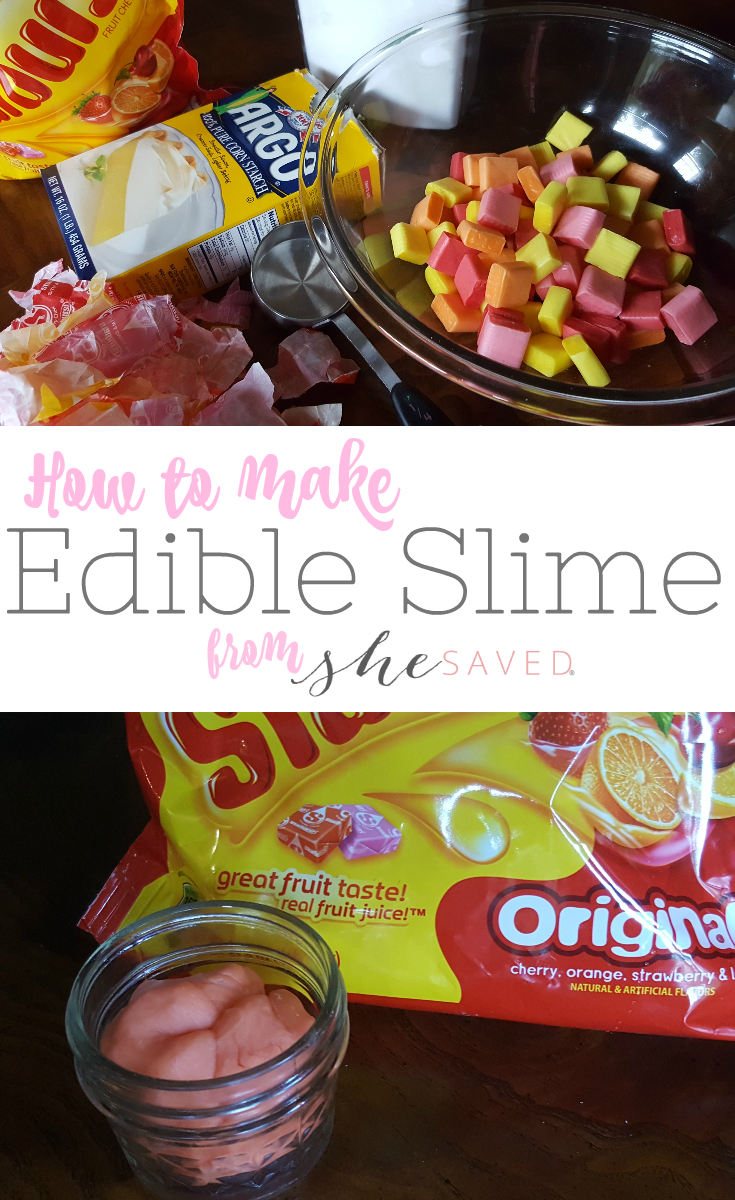 Slime you can EAT! This easy edible slime recipe made with Starbursts will be a hit with kids!