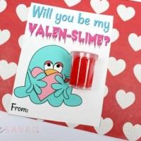 FREE Valen-Slime Valentine Slime Printable Cards
