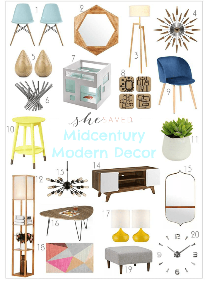 Looking for Midcentury Modern Decor ideas? This round up has the perfect selections for the look you are going for!