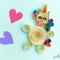 DIY Paper Quilling Project: How to Make a Quilled Unicorn