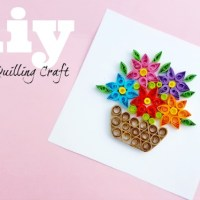 Paper Quilling Flower Basket Project