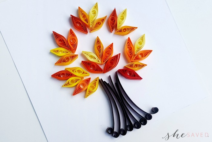 Quilled Paper Tree Project