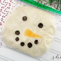 DIY Snowman Playdough Craft