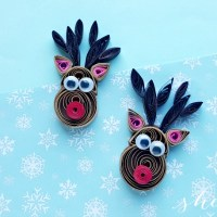 Paper Quilling Christmas Craft: Quilled Reindeer