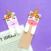 DIY Unicorn Bookmark (with FREE printable template)
