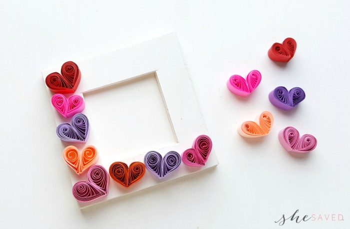 Quilling Hearts Frame