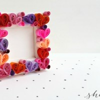 DIY Paper Quilling Craft: Quilled Heart Photo Frame