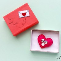 Valentine's Day Craft:Heart Plush in Matchbox