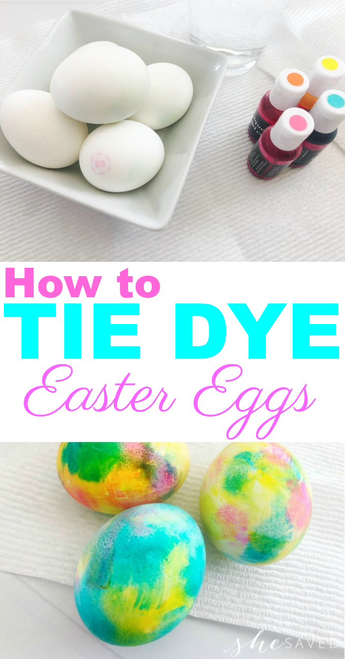 How to Tie Dye Easter Eggs (the easy way!)
