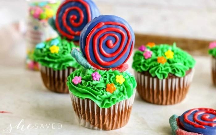 Snail Cupcakes with Oreo