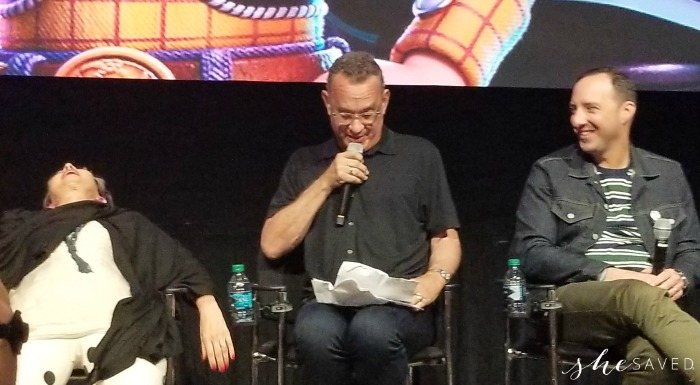 Annie Potts and Tom Hanks and Tony Hale interview