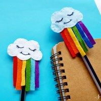 Cute DIY Felt Rainbow Cloud Pen Topper Craft