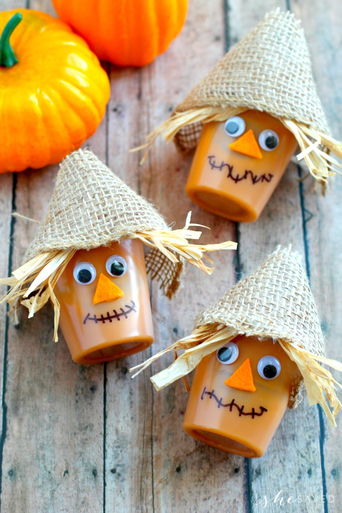 Easy Fall Snack for Kids: Scarecrow Pudding Cups