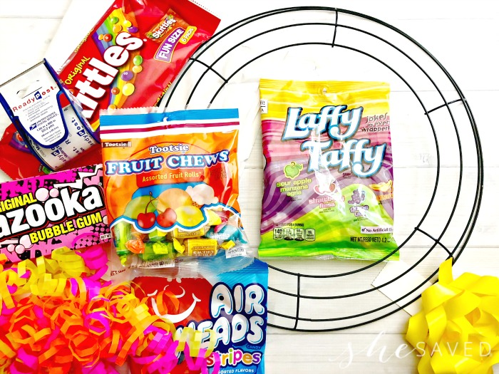 Making a Candy Wreath