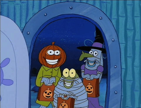 boo spongebob squarepants spongebob
