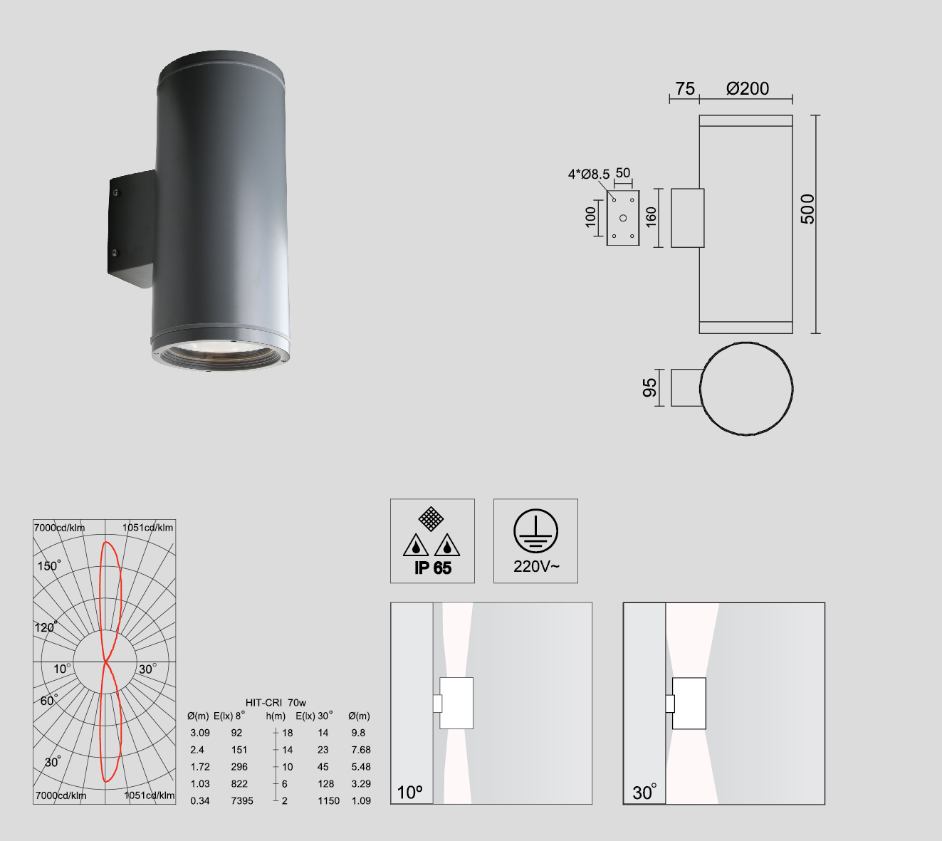 hight resolution of mh cylinder series as floodlight widely applied in architecture corridor bollard