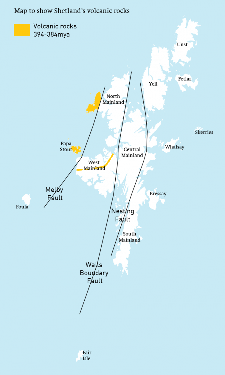 hight resolution of map to show locations of shetland s volcanic rockszoomwhen