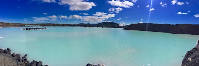 Blue Lagoon in summer