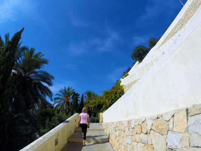 Climbing Malaga's medieval Moorish castle