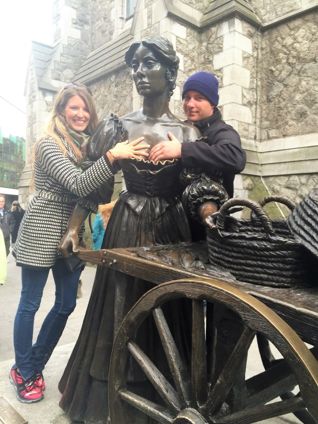 Rubbing Molly Malone's breasts for good luck