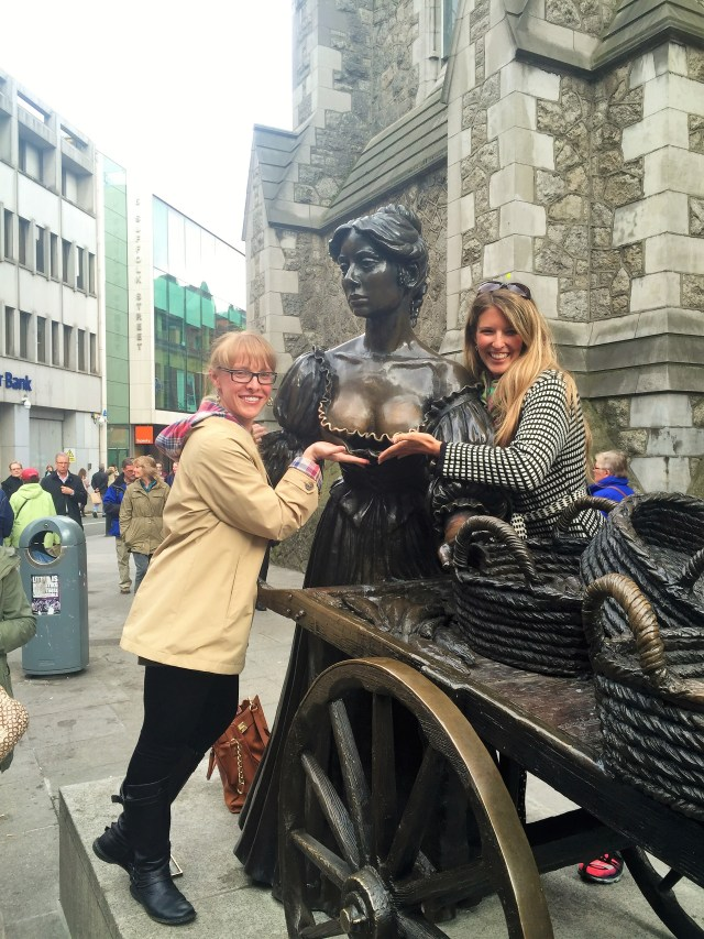 Acting as Molly Malone's human bra