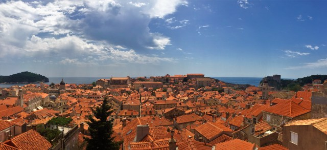 Dubrovnik's Old Town from the land side of the old walls