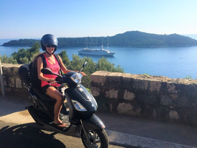 A scooter is the best way to get around Dubrovnik