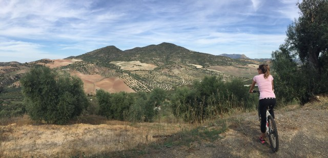 < Things in Spain that aren't common in the U.S.: bike paths in the mountains >